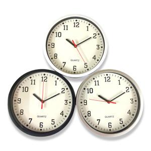 Round Wall Clock Bedroom Kitchen Clocks Quartz Sweep Home 23cm