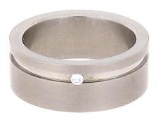 Gloria Star Titan Ring mit Brillant Fingerring Damenring (54/17,00mm)