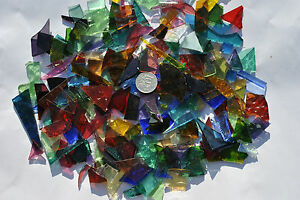 Leadlight glass offcuts for mosaic or glass crafts-Assorted translucent mix 1kg