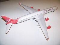 Finished Paper Airbus A340-600 Virgin Atlantic Model - Handmade