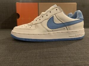 Nike Kid Air Force 1 (PS) 2Y White Columbia Blue 2002 Deadstock New