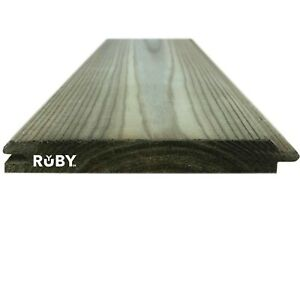 121mm x 14.5mm Treated Wooden Tongue & Groove Cladding Boards TGV - 1.2m to 3.6m