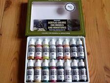 AV Vallejo Seconda Guerra Mondiale Tedesco colori della Pittura Acrilica Set (16 Colori) per i modelli