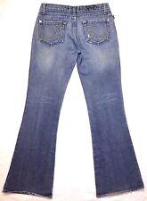 Rock & Republic size 29 stretch denim flare low rise blue jeans pants 31.5 waist