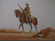 WATERCOLOUR PAINTING BY HARRY RILEY 1916 A SHARPSHOOTER SOLDIER ACTIVE SERVICE