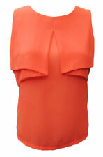 Regular Size Casual Solid Sleeveless Tops & Blouses for Women
