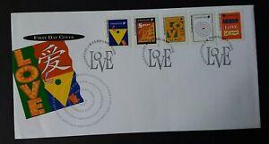 Singapore 1995 SG790/4 Self Adhesive Greetings Stamps FDC