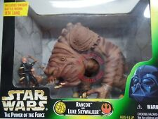 VINTAGE STAR WARS POWER OF THE FORCE REBEL RANCOR  BEAST + JEDI LUKE SKYWALKER