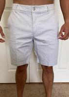 "Lululemon Men's Size 31 Commission Short Classic 7 "" White Black WHT/BLK Yoga"