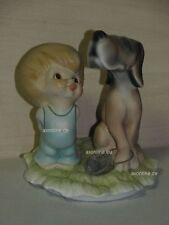 +# A012482_05 Goebel Archiv Best Friends Junge mit Hund Bluthund 10-924 Plombe