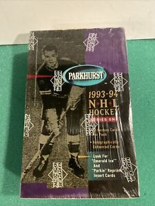 1993-94 Parkhurst Hockey Series 1 Wax Boxes