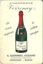 Bon de commande Champagne verzenay Quenardel wine vin eonologie 1962