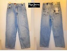 NWT $48.00  Sz 14 Pepe Jeans Boy's Light Blue Relaxed Jeans Great Sold Out New