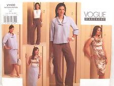 Vogue 1100 Wardrobe Sewing Pattern Top Skirt Jacket Pant Dress Sizes 14 16 18 20