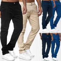 Pantalon Chino pour homme Ajustement régulier Jeans Stretch Casual