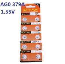 10X Batteries AG0 L521 LR63 379A SR63 Coin Button Cell Battery Watch camera ♫