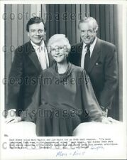 Spiegeleier TV Gastgeber Hugh Downs Jim Hartz Mary MARTIN Presse Foto