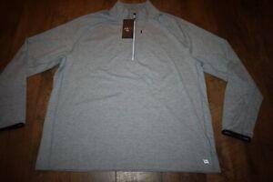 VRST Men's Run Warm 1/2 Zip Pullover Size XXL (Ashley Blue Heather) NWT