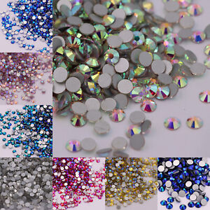 Glass Rhinestones 3D Nail Art Design Crystal Strass AB Stones Gems Decorations
