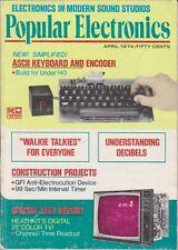 Popular Electronics April 1974 1st Heathkit 2000 TV-ASCII Encoder-Electric Shock