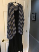 Ecote Urban Outfitters Blue & White Rayon Blend Long Vest Sz S USA Made