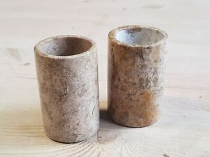 Pair of Stone Tea Light Candle Holders 3 inch