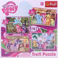 My Little Pony Childrens/Kids Girls 4 x Jigsaw Puzzles Box 35, 48, 54, 70 pieces
