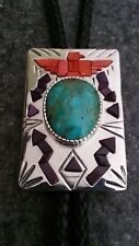 Bolo Tie Sugilite,Burtis Royal Blue Turquoise,and Red Spiny By Billy Jaramillo