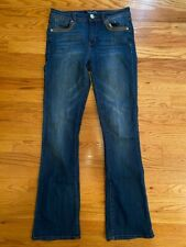 Almost Famous Mid Rise Bootcut Size 7 Juniors / Teens / Womens Jeans Waist: 28""