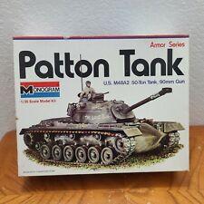 Monogram 1/32 Patton Tank US M48A2 50-Ton Tank, 90mm Gun Plastic Model Kit 1966