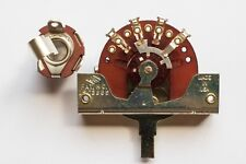 """Vintage Spec CRL 1452 3 Way Selector Switch & Switchcraft 1/4"""" Guitar Jack Combo"""