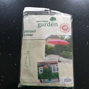 Kingfisher Parasol Cover Umbrella Cover Outdoor Garden Waterproof Tie Down NEW