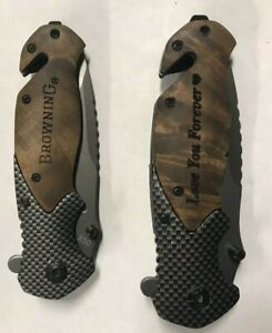 Browning Model X50 Tactical Folding Knife Couples set of Knives JW393