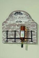Vintage Wand - Flaschenregal Chateau Laurent - für 4 Flaschen