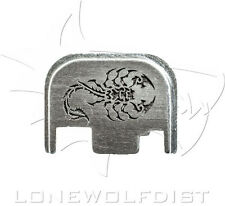 Lone Wolf Custom Slide Cover Plate Russian Scorpion Silver Fits All Glock Models
