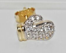 SOLID 9CT YELLOW GOLD STONE SET BOXING GLOVE MEN'S SINGLE STUD EARRING