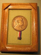 1935 TG Tomas Masaryk Bronze Medal In Frame Czechoslovakia Czech Spaniel Bohemia