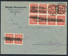 Dt. Reich 10 Mill. Mark Korbdeckel MeF durchstochen Bochum 1923 geprüft (S12969)
