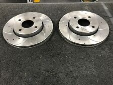 FORD ESCORT XR3I 130PS RS2000 DRILLED GROOVED BRAKE DISC