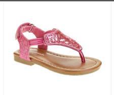 *Toddler Girls INFANT SIZE 4  GARANIMALS GLITTER SANDALS PINK Ajtbl heel strap