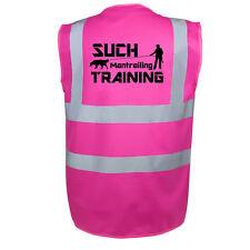 Mantrailing Sicherheitsweste Warnweste pink Hundesportweste Weste W1