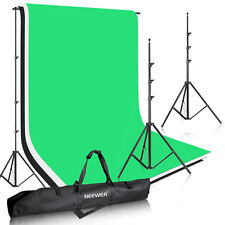 Neewer Background Stand Support System Kit with White Black Green Backdrop