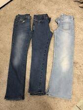 Girls Jeans Bundle Age 11-12-13 Gap excellent condition adjustable waist