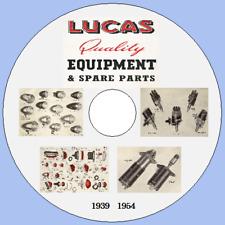 Lucas Master Equipment & Spare Parts Catalogue 1939-1954