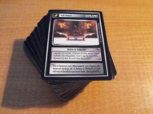 STAR TREK CCG BLAZE OF GLORY COMPLETE MASTER SET, (no foils)