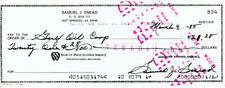 Sam Snead Certified Authentic Autographed Signed 3x8.5 Check #834 135158