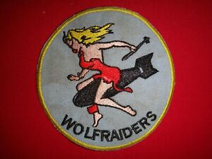Korea War (1950-1953) Patch USMC Fighter Squadron VMA-121 WOLFRAIDERS