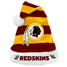 Washington Redskins Team Logo Holiday Plush Santa Hat NEW! Christmas STRIPED