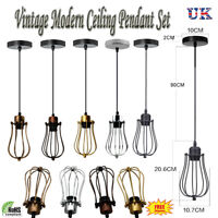 Balloon Wire Design Pendant Shades Easy Fit Retro Lighting LED Light Bulbs UK
