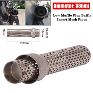 38MM Stainless Steel Motorcycle Exhaust Low Muffle Plug Baffle Insert Mesh Pipes